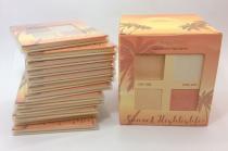 BOX 12 UN. Paleta De Iluminador Light Sunset Highlighter - Ruby Rose Hb -7504 -