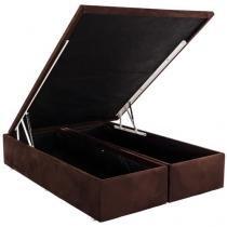 Box para Colchão Queen Size Ortobom com Baú - Bipartido 37 cm de Altura Americana