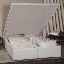 Box para Colchão Queen Size Ortobom com Baú - Bipartido 39 cm de Altura Americana