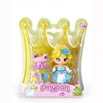 Br188 pinypon princesas princesa vestido azul com sapo - Multikids