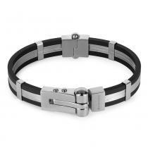 Bracelete Aço Convex Cauccio - Prata - Único - Rosana joias