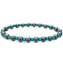 Bracelete Feminino Elástico Azul Turquesa Gafeno - Gafeno acessórios