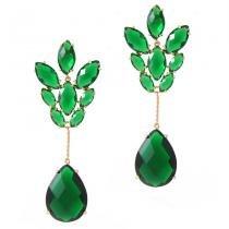 Brinco hera jóias em cristal - VERDE - UNICA - ELEGANCE