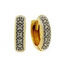 Brinco Ouro Argola Diamante 10 Pontos - Ouro Amarelo - Único - Rosana Joias