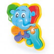 Brinquedo Animal Puzzle 3D Elefante 856 Calesita -
