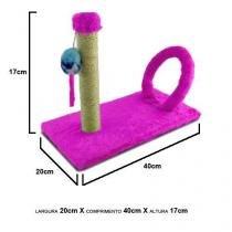 Brinquedo Arranhador para Gatos Cat Arco Retangular Rosa - Pet injet