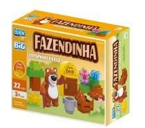 Brinquedo Blocos De Montar Com 22Pçs Big Ursinho Feliz - Sertic