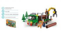 Brinquedo Blocos De Montar Com 274Pçs Construção Floresta - Sertic