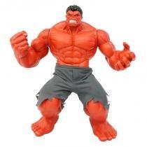 Brinquedo Boneco Marvel Hulk Vermelho Premium Gigante 55cm - Mimo