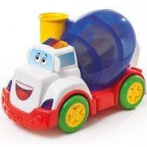 Brinquedo Caminhão Betoneira Mix Ball 828 Calesita - Laranja / Branco - Calesita
