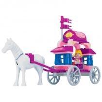 Brinquedo Carro de Princesa para Montar com 57 Pcs - PlayCIS