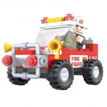 Brinquedo Carro Do Bombeiro para Montar com 58 Pcs - PlayCIS