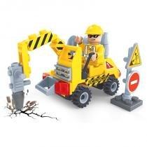 Brinquedo Construtores -Britadeira para Montar com 70 Pcs - PlayCIS