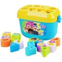 Brinquedo de Encaixar Mundo de Bita - Baldinho de Formas Yes Toys 18 Peças