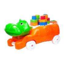 Brinquedo Educativo Amiguinho Da Selva Hipo Calesita Amarelo - Calesita