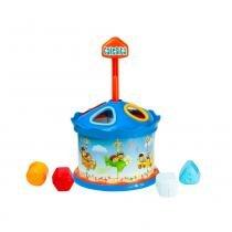 Brinquedo Educativo Carrossel Calesita Azul - Calesita