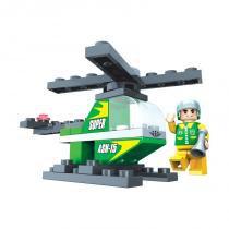 Brinquedo Helicóptero para Montar Cx com 33Pcs - PlayCIS