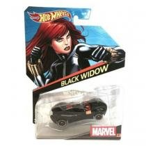 Brinquedo hot wheels carros marvel, 1 peca - black widow - bdm71 - Mattel
