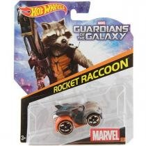 Brinquedo Hot Wheels Carros Marvel, 1 Peca - Rocket Raccoon - Bdm71 - Mattel