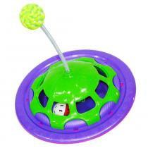 Brinquedo interativo navcat roxo e verde - Truqys pets