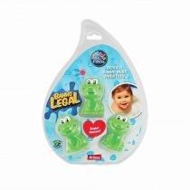 Brinquedo para Banho Kit 3 Peças Sapinhos Pais  Filhos Emborrachado Macio Átoxico Verde - Shopping do bebê