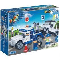 Brinquedo Para Montar Guincho Policia 245 Pcs Banbao - Banbao