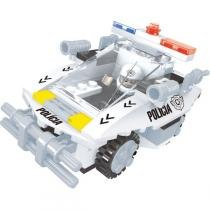 Brinquedo Para Montar Policia Carro Patrulha 114Pcs Play Cis - Play Cis