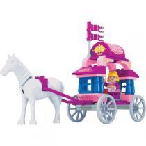 Brinquedo Para Montar Reino Encantado Carruagem 57Pc Play Cis - Play Cis