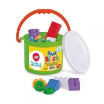 Brinquedo Para Montar Riva Block 21 Pecas Calesita -