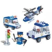 Brinquedo Para Montar Veiculos De Policia 113 Pcs Banbao - Banbao