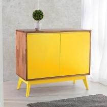 Buffet Roma 2 Portas Amarelo - Wood Prime MP 1041594 - Wood Prime - MP