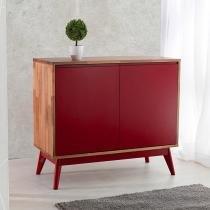 Buffet Roma 2 Portas Vermelho - Wood Prime MP 1041598 - Wood Prime - MP