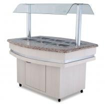 Buffet Self Service Quente 2400 mm BF004 Frilux -