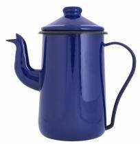 Bule de Café Esmaltado 14/1,5 L Tradicional Azul Ewel com 2 - Comprenet
