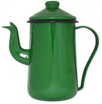Bule de Café Esmaltado 14/1,5 L Tradicional Verde Ewel com 2 - Comprenet