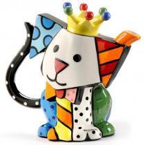 Bule Romero Britto Cachorro - Cerâmica - 22cm x 24cm x 14cm - Trevisan Concept -