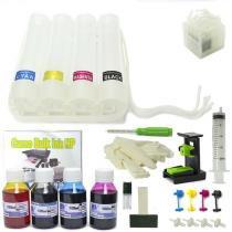 Bulk Ink HP com Anti-Refluxo, Snap Fill, Verruma e Tinta VISUTEC -