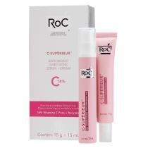 C-Supérieur Sérum 15g + Gel Creme Anti-Oxidante 15ml Roc - Tratamento Anti-Idade - Roc