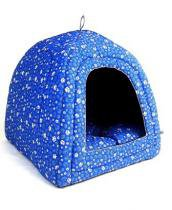 Cabana iglu toca caminha pet cachorro gato cama binnopet azul - g - Binnopet