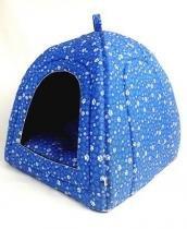 Cabana iglu toca caminha pet cachorro gato cama binnopet azul - p - Binnopet