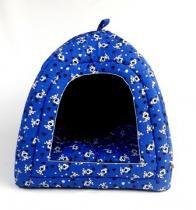 Cabana Iglu Toca Caminha Pet Cachorro Gato Cama Binnopet Dogs Azul - M -