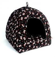 Cabana iglu toca caminha pet cachorro gato cama binnopet dogs preto - p - Binnopet