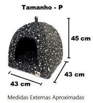 Cabana Iglu Toca Caminha Pet Cachorro Gato Cama Binnopet Preto - P -
