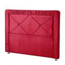 Cabeceira Casal Queen com Pés Metalizados Athenas 1,60 TCA-13 Vermelho - Perfan - Perfan