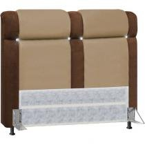 Cabeceira Duquesa Suede Queen 1,60m - Marrom Taupe/Chocolate 0140 - Simbal