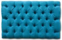 Cabeceira Painel Lisboa Suede Azul Turquesa Capitonê King 60x195cm - Place Decor