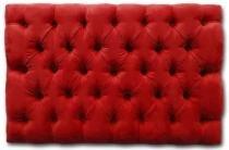 Cabeceira Painel Lisboa Suede Vermelha Capitonê King 60x195cm - Place Decor