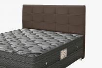 Cabeceira Para Cama Box Casal Clean 1400mm - Suede Marrom Chocolate - Simbal -