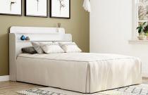 Cabeceira Rubi Casal 1,40M Branco -  Patrimar Móveis -