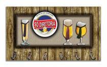 Cabideiro de Parede Porta Chaves Toalhas - Cerveja - Formalivre
